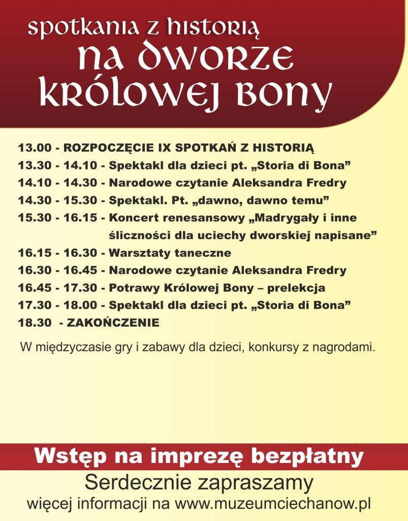 spotkania z historia 2013 program