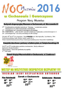 Program Nocy Muzeów 2016